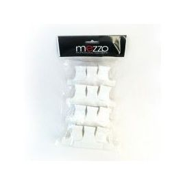 12 PINCES CROCO BLANCHES PM